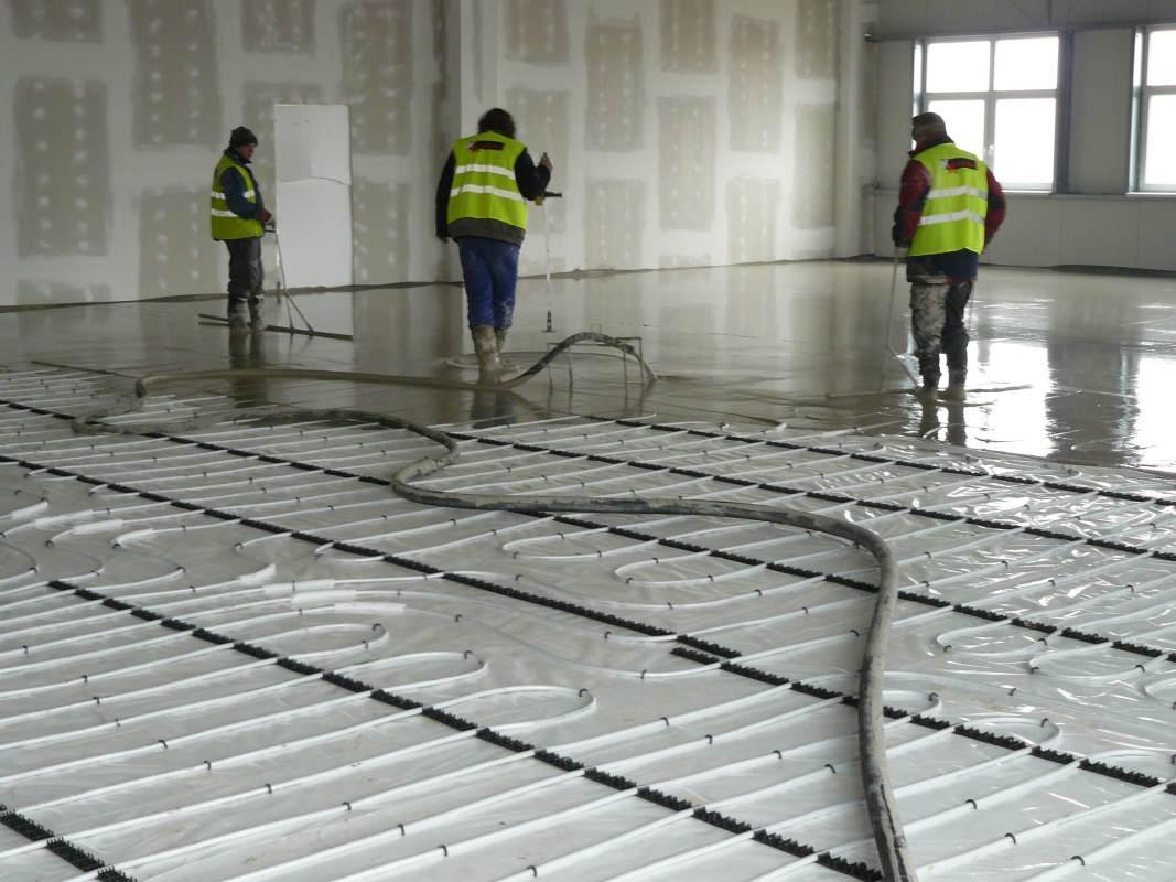 Anhydrite Neudrossenfeld Germany Screeds Reference Industrial Floors